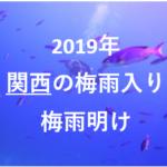 関西の梅雨入りと梅雨明けの時期2019はいつ・例年から予想!室内のデートやお出かけスポット