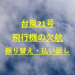 台風21号2019飛行機欠航と空港の最新!新幹線と振り替えや払い戻しについても